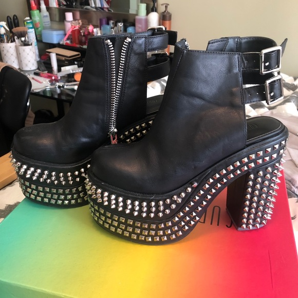best choice lowest price best sale Current mood ankle boots with spikes and studs